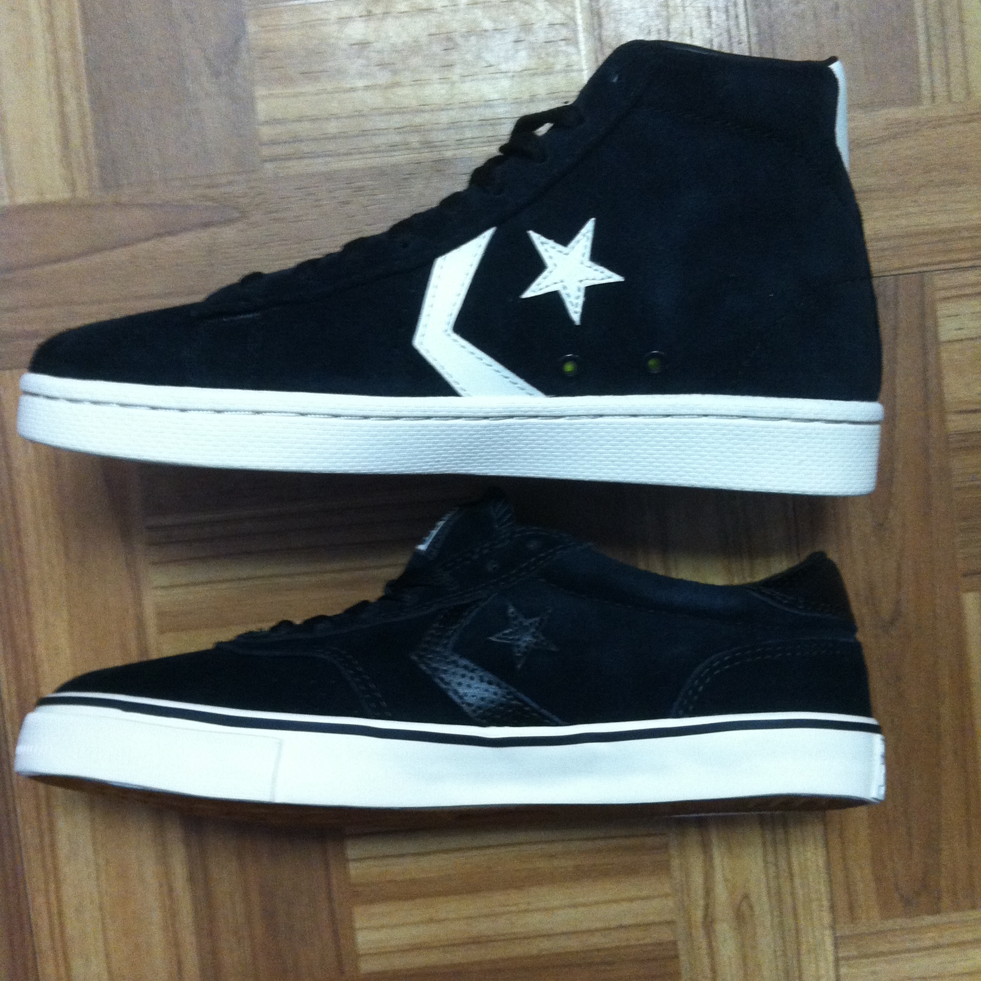 8f80e709a9d7 New Shoes From Cons Converse. Pro Leather Mid Pro In Black White ...