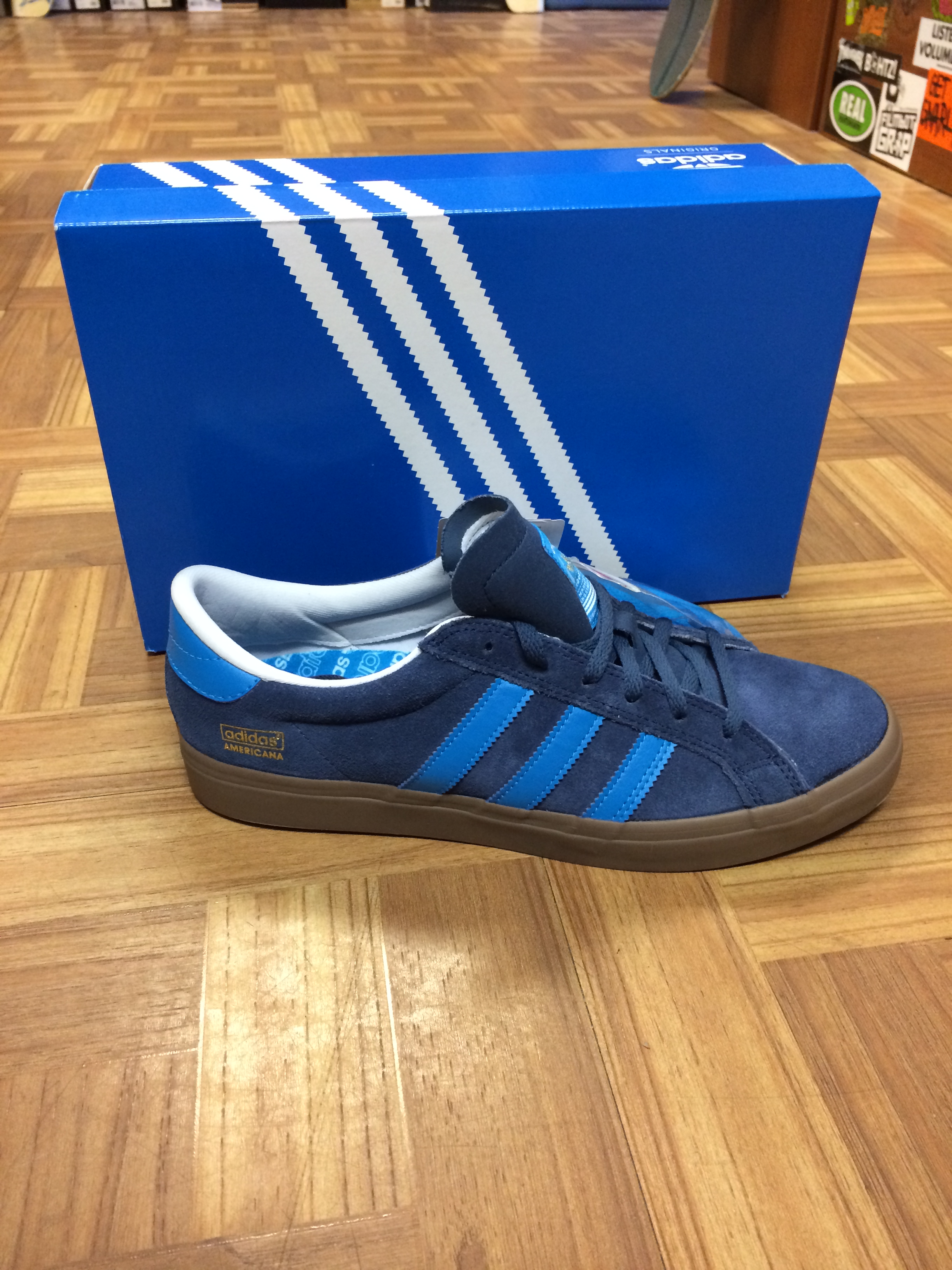 big sale d5027 9638c New Adidas SkateBoarding Americana Vin Low In BlueGum Just Came In Our  Harford Rd Store