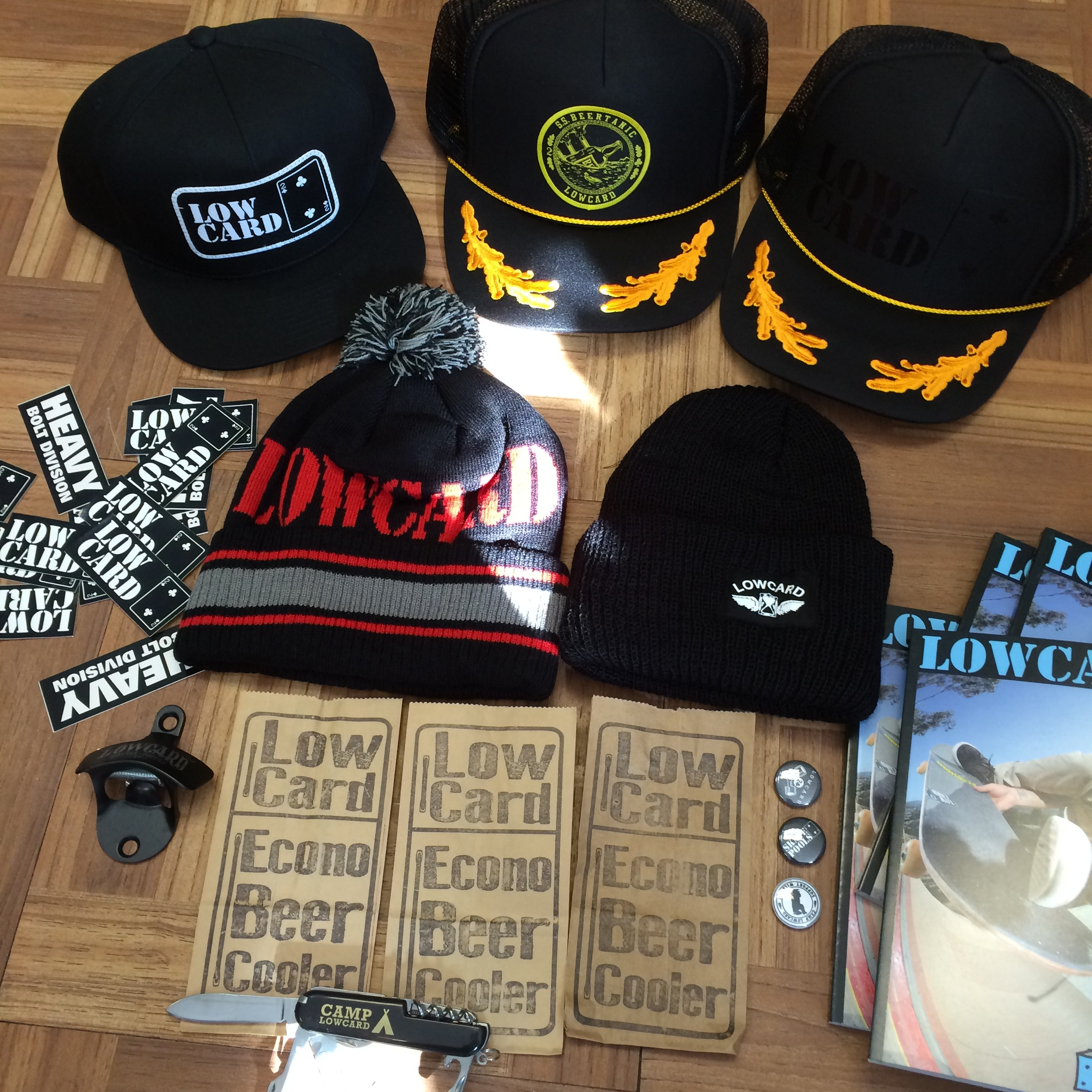 39fc28414c27 New Low Card Hats, Beanies, Knives, & FREE Magazine. Available At Both Shop  Locations