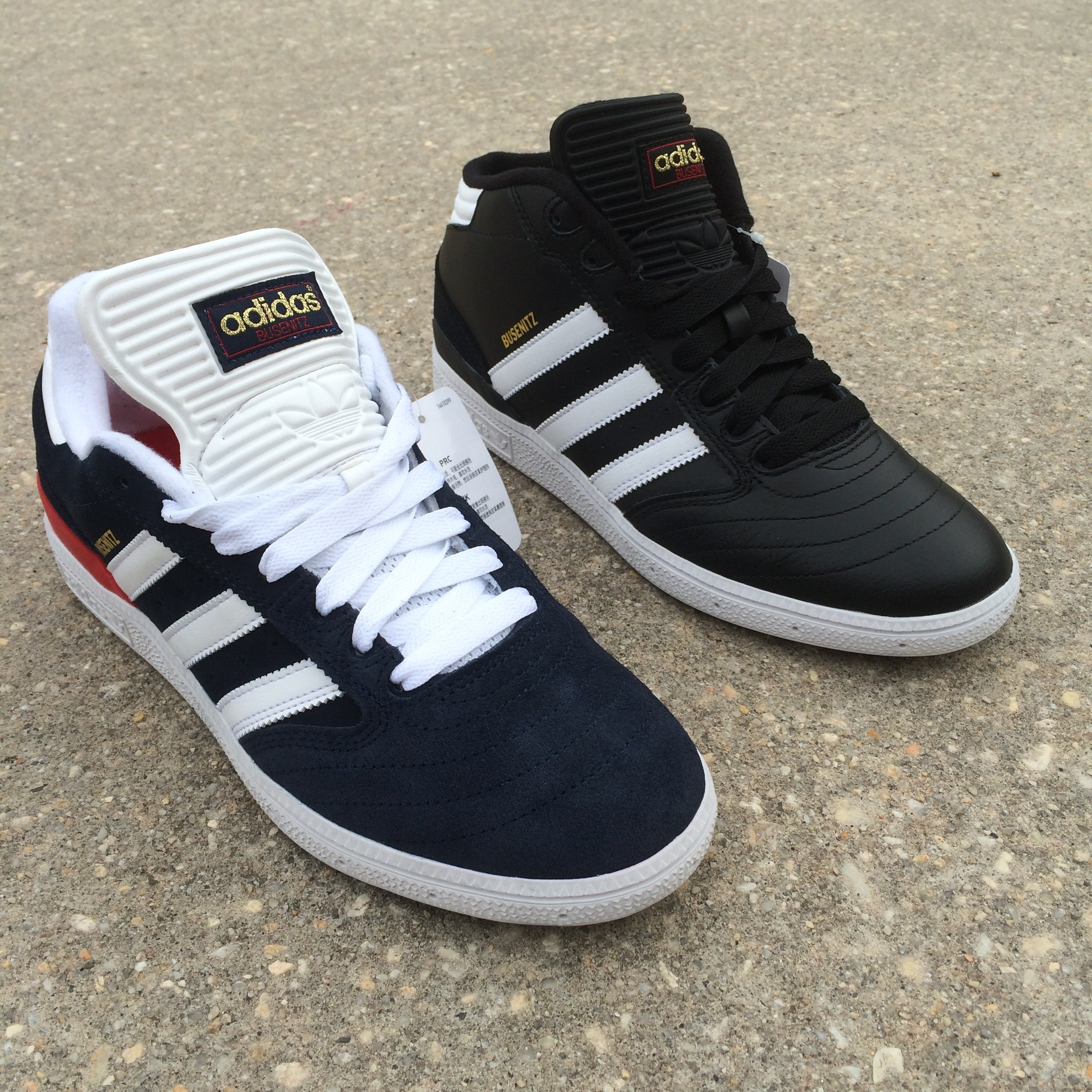 Adidas Busenitz Pro Shoes Collegiate Navy Blue White Red Skate